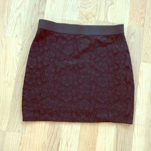 Black Lace Miniskirt